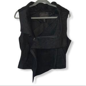 BCBG MAXAZRIA FABIAN Asymmetrical Side Zip Vest